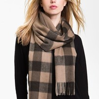 Women's Burberry Check Cashmere Scarf