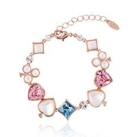 Alice in Wonderland Bracelet with Swarovski Elements