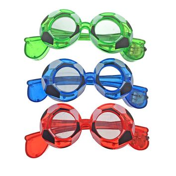 Hot Sale 15pcs/lot electronic football flashing glasses led glasses fans gifts masquerade mask for world cup party supplies