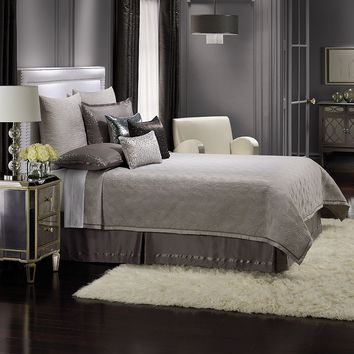 Jennifer Lopez bedding collection Parisian Dusk Coverlet - King (Grey)