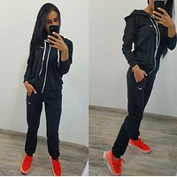 Nike :Fashion Long Sleeve Sweater Set Two-Piece Sportswear