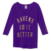 Baltimore Ravens V-neck Tee  - PINK - Victoria's Secret