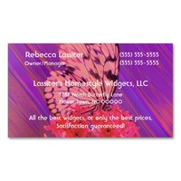 Flower and Butterfly in Pink and Purple Double-Sided Standard Business Cards (Pack Of 100)