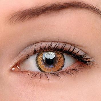 EyeDream® Eye Circle Lens Muse Brown Colored Contact Lenses