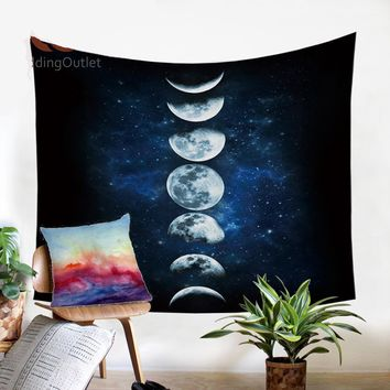 Moon Eclipse Galaxy Wall Decor Tapestry