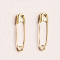 GOLD SAFETY PIN EARRINGS