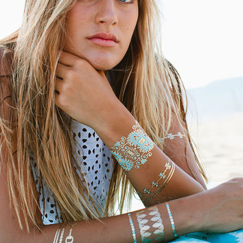 BLUE LAGOON Metallic Jewelry Tattoos