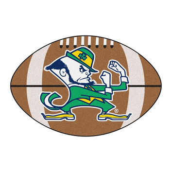 Notre Dame Fighting Irish NCAA Football Floor Mat (22x35) Fighting Irish Logo