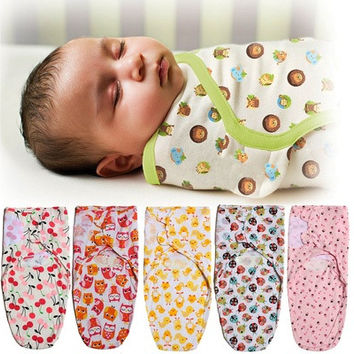 100% Cotton Soft Baby Swaddle Wrap Blanket Sleeping Bag For 0-12 Months Infant [8322963073]