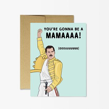 PARTY MOUNTAIN PAPER CO. FREDDIE MERCURY NEW MAMA CARD