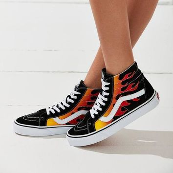 Vans Fashion leisure flame high shoes