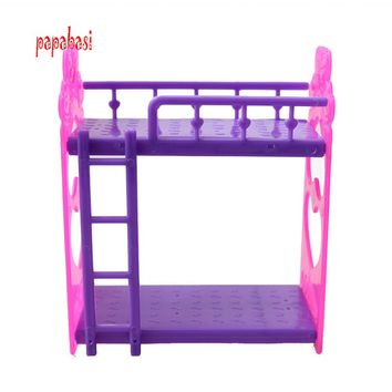 Kid's play house toys Doll Accessories Handmade Doll's Plastic bunk bed For Barbie Dolls/Kali dolls
