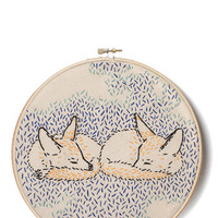 ModCloth Woodland Creature What Does the Fox Dream? Embroidery Kit