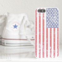 Grunge USA Flag Case Cover for Apple iPhone 4 4s 5 5s 5c 6 6s Plus & iPod Touch