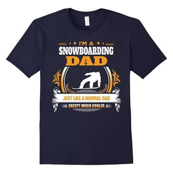 Funny Snowboarding Dad Tshirt Christmas Gift for Dad