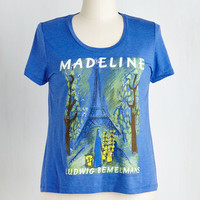 Short Sleeves Novel Tee in Madeline - Plus