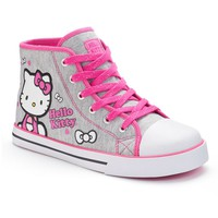 Hello Kitty Girls' High-Top Sneakers (Grey)