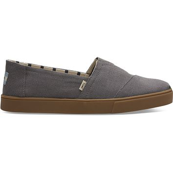TOMS - Venice Collection Shade Grey Heritage Men's Cupsole Classics Slip-Ons