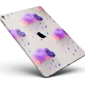 "Geometric Rain Clouds Full Body Skin for the iPad Pro (12.9"" or 9.7"" available)"