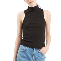 Topshop Ribbed Mock Collar Tank (Regular & Petite) | Nordstrom