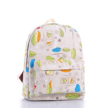 Pastoral Style Style Leaf Travel Bags = 4887752580