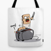 The Toasted Bread Killer Tote Bag by Gerko