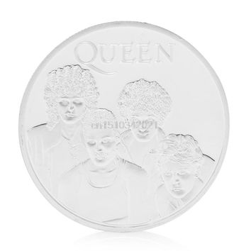 Queen British Rock Band Silver Plated Commemorative Coin