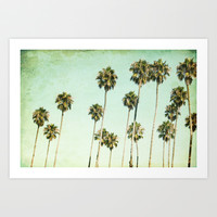 Palm Trees (California Dreaming III) Art Print by Mareike Böhmer Graphics