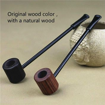 Grade Ebony Wood Pipe Smoking Pipes Popeye Portable Creative Smoking Pipe Herb Tobacco Pipes Gifts Narguile Weed Grinder Smoke