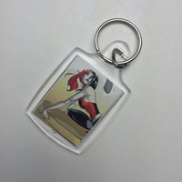 Harley Quinn Keychain - Keychain - Harley Quinn - DC Comics - Comic Book Keychain - (Ready to Ship)