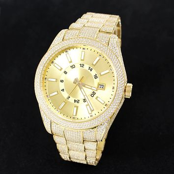 14k Gold Finish Steel Luxury Presidential Exclusive Watch Sale
