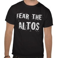 Fear The Alto T-shirt from Zazzle.com