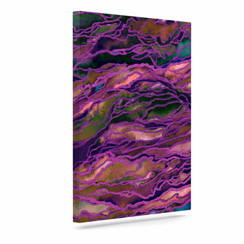 "Ebi Emporium ""Marble Idea! - Rich Jewel Tone"" Purple Pink Canvas Art"
