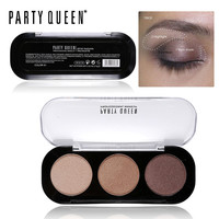 Party Queen 8Style Shimmer Matte Bronze Trio Eyeshadow Palette High Pigment Naked Glamorous Smokey Natural Eye Shadow Makeup Kit