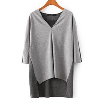 Two Tone Lightweight Blouse