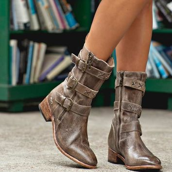 Blanchett Boots - Taupe Rustic Tremolo Wash by Bed Stu