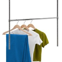 Honey-Can-Do HNG-01816 Chrome Adjustable Hanging Closet Rod