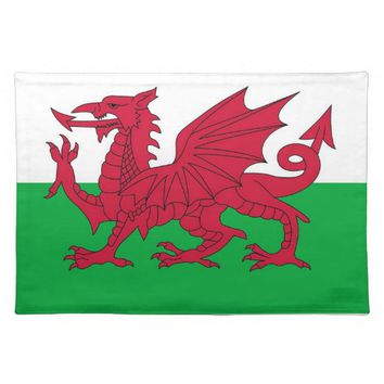 Wales Flag on MoJo Placemat