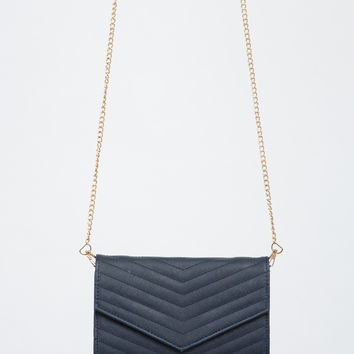 Quilted Chevron Envelope Clutch