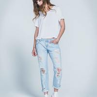 Rsq Brooklyn Slouch Boyfriend Jeans Light Blue  In Sizes