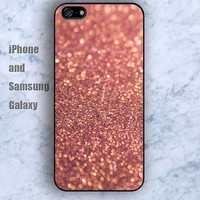 glitter fire golden red iPhone 5/5S ipod touch silicone rubber case phone cover