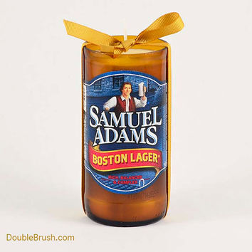 Samuel Adams Boston Lager Beer Bottle Candle Blue Label American USA Patriot US Boston Massssachusetts America Boston Beer Company Sam Adams