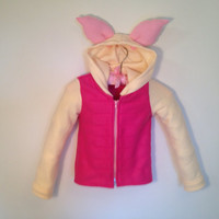Disney Winnie the Pooh Inspired Piglet Fleece Hoodie Shirt (child sizes)
