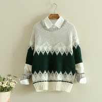 Japanese harajuku students sweater pullover