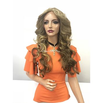 Blond balayage Swiss lace front wig - Confident Grace