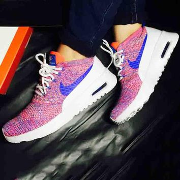 Nike Air Max Thea Ultra Flyknit Trending Comfortable breathable Running shoes Sneakers  B-CSXY Ligh Purple