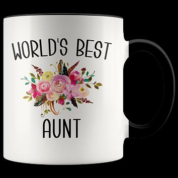 Best Aunt Ever Mug for World's Best Mug Aunt Gift from Niece Coffee Cup New Aunt Gift