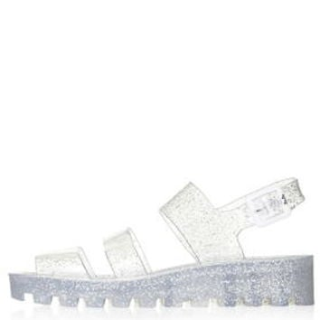 POPPY Wedge Jelly Sandals by JuJu - Clear