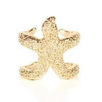 Gold Star Fish Ring