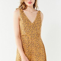 UO Sally Surplice Romper   Urban Outfitters